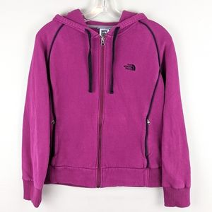The North Face | Front Zip Berry Hoodie